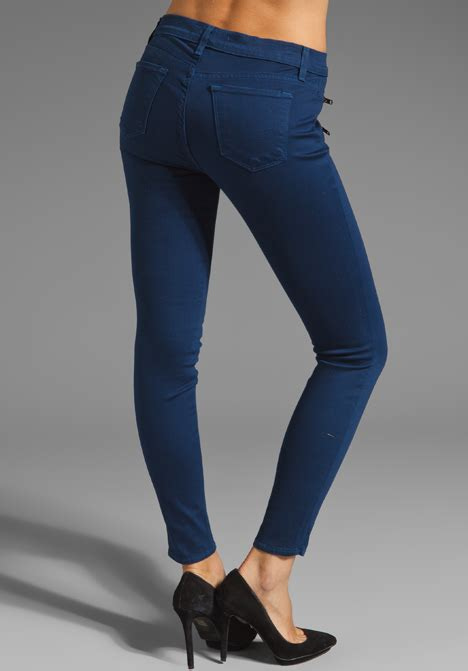 New Colored Skinny Jeans Women Jeans Front To Back Zipper