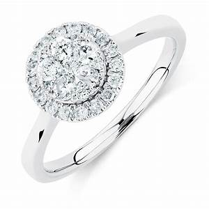 engagement ring with 1 2 carat tw of diamonds in 10kt With 2 in 1 wedding rings