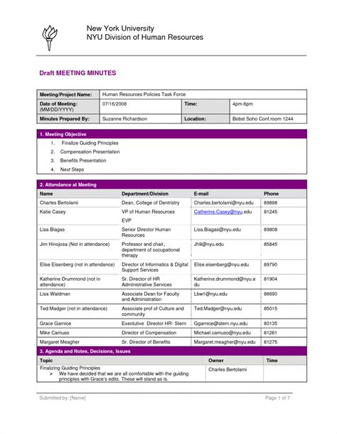 Meeting Minutes Template Microsoft Word Meeting Minutes Template Free Agenda