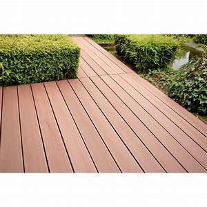 planche composite brun par lot de 3 lame de terrasse With planche de terrasse composite
