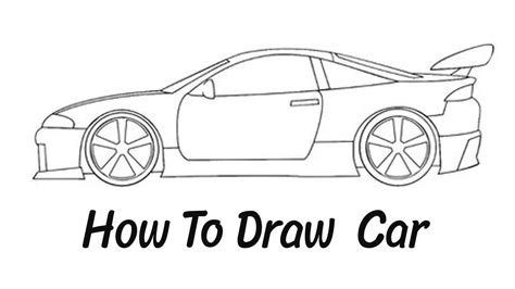 How To Draw A Car Step By Step With Pictures how to draw a car step by step easy
