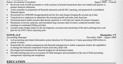 Accounting Consultant Resume by Senior Accountant Consultant Resume Sles Across All Industries Sle Resume