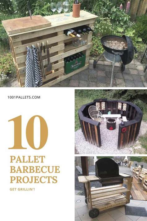 grillin    pallet barbecue projects