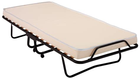 brandina pieghevole con materasso rete a doghe ortopedica in legno di faggio e perimetrale