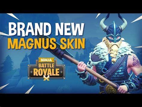 brand  magnus skin fortnite battle royale gameplay