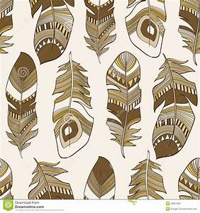 Seamless Ethnic Indian Feathers Plumage Pattern Royalty ...