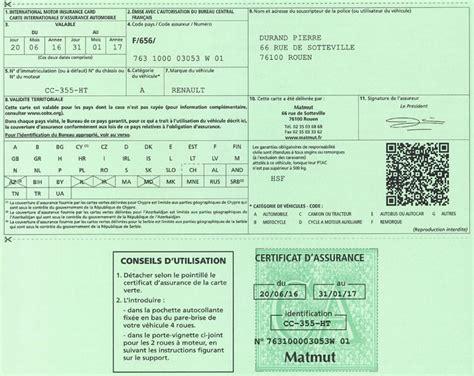 bureau central francais bureau central francais matmut carte verte