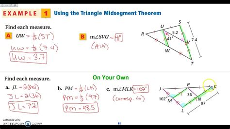 54 The Triangle Midsegment Theorem Youtube