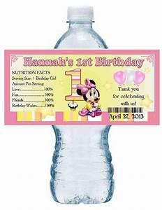 birthday water bottle labels wwwimgkidcom the image With first birthday water bottle labels