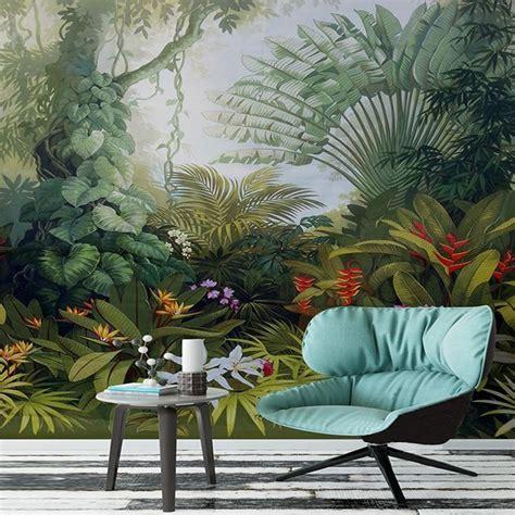 Custom Size Mural Wallpaper Tropical Rainforest Landscape