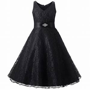 Fashionable Girl Lace Dress Diamond Belt Princess Evening ...