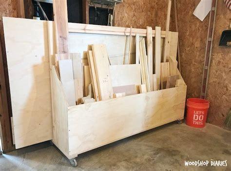 build  mobile plywood storage  scrap wood shop cart
