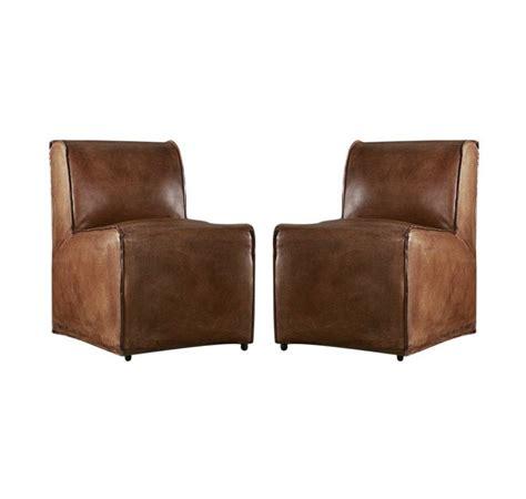 restoration hardware bruno leather chair pair retail