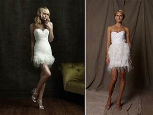 short wedding reception dresses with feather details With short wedding reception dress