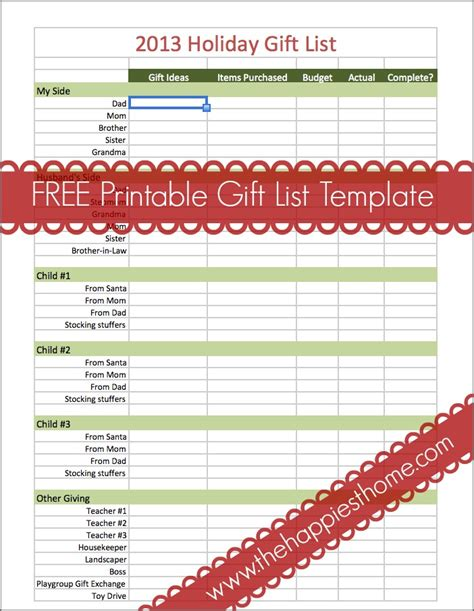 5 ways to organize your holiday gift lists plus a free