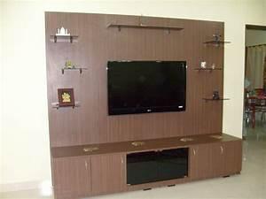 Beautiful Dark Brown Wood Glass Modern Design Wall Unit