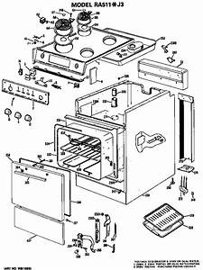 Hotpoint Ra511 J3 Electric Range Parts