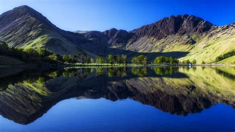 Wallpaper Buttermere Lake, Mountains, Countryside, HD