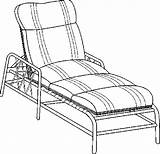 Lounge Chaise Coloring Pages Furniture sketch template