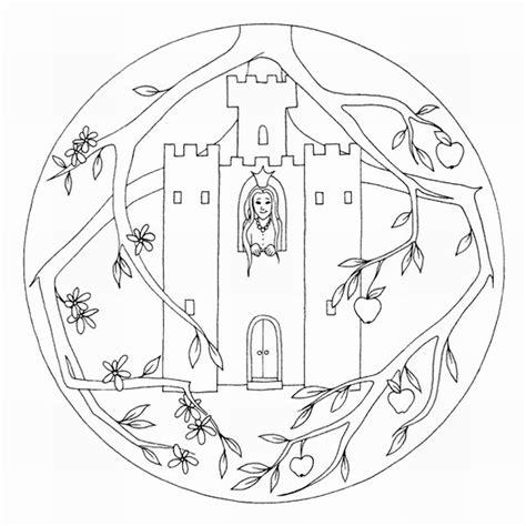 Kleurplaat Vrouw Holle by Mandalas Para Pintar Mandalas Dornroeschen