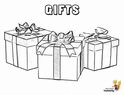 Coloring Christmas Gift Box Boxes Pages Merry