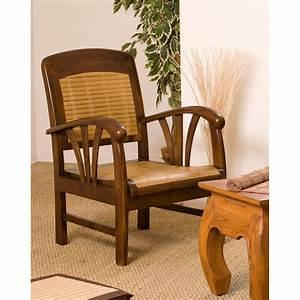 Canapé En Bambou : fauteuil colonial teck bambou dpi import ~ Melissatoandfro.com Idées de Décoration