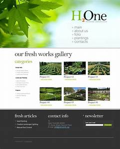 landscape design joomla template 35202 With templat monster