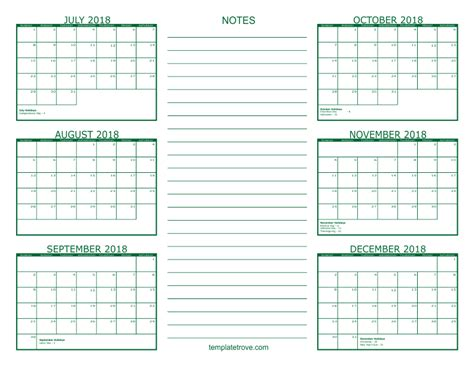 calendar august september october november december calendar