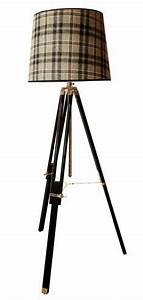 1000 images about rustic chic lamps on pinterest With tripod floor lamp with tartan shade