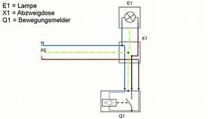 Lampe Anschließen 2 Kabel Ohne Farbe : bewegungsmelder anschlie en der elektriker ~ Orissabook.com Haus und Dekorationen