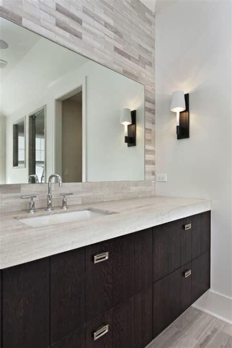 clean bold vanity tile  mirror master bath