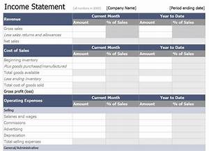 restaurant monthly profit and loss statement template for With restaurant income statement template excel