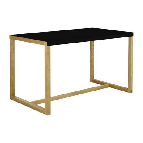 table cuisine habitat kilo rectangular dining table black habitat