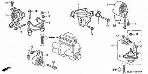 2001 Honda Civic Engine Mount Diagram