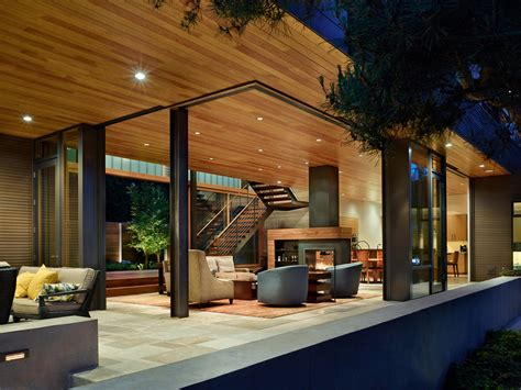 courtyard house   contemporary residence  seattle  deforest architects