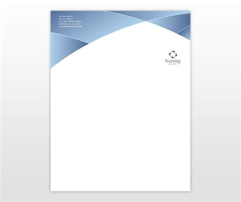 nursing education training letterhead template letter