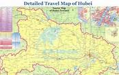 Detailed Tourist Map of Hubei, Hubei Travel Guide, China