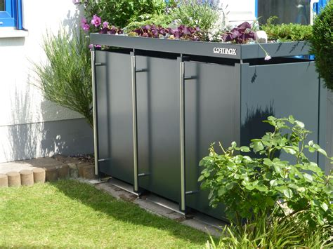 Eine Mülltonnenbox Wie Ein Möbelstück Im Garten