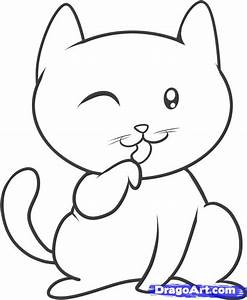 How to Draw a Cat for Kids, Step by Step, Animals For Kids ...