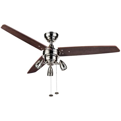 fairhaven ceiling fan 53032 fairhaven in indoor brushed nickel ceiling fan with