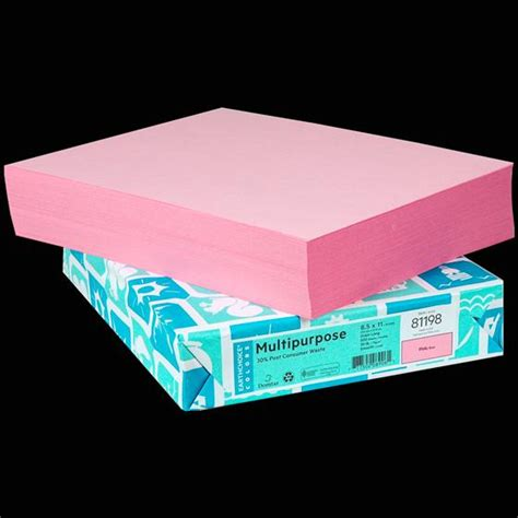 Domtar Earthchoice 81198 Pink Copy Paper, 8.5 x 11 ...