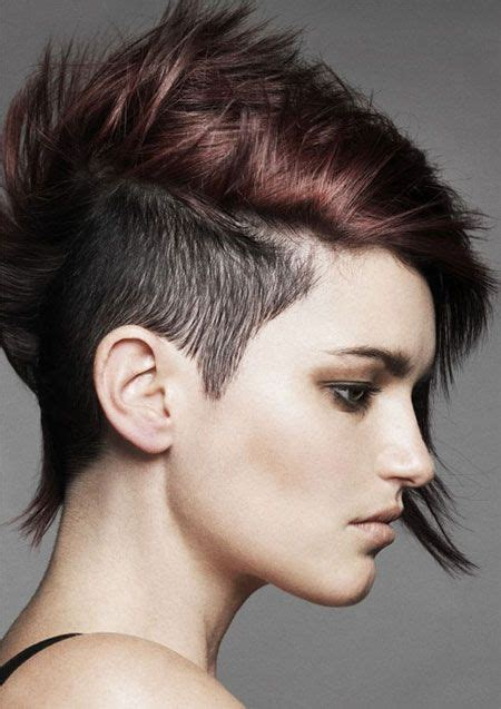 cool lesbian haircuts    sided shaved hairstyles haircuts  girls women