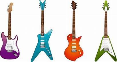 Guitar Electric Clipart Different Guitars Instrument Equipment