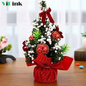 New, Year, Party, Decor, 20cm, Artificial, Christmas, Trees, Xmas, Ornaments, Merry, Christmas, Tree, Table