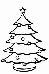 Tree Christmas Sketch Coloring Pages Colouring Navidad Children sketch template
