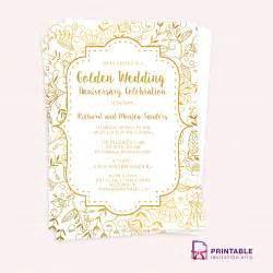 50th wedding anniversary program templates golden wedding anniversary invitation template wedding