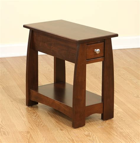 narrow end tables furniture brown wooden narrow side tables with single