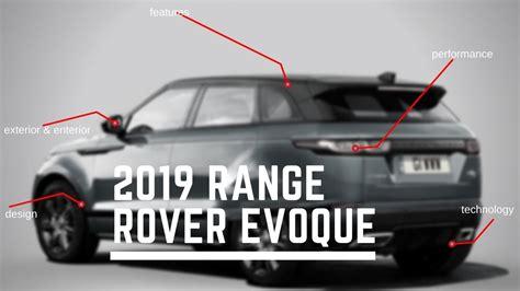 [watch Now] 2019 Range Rover Evoque Price, Specs And