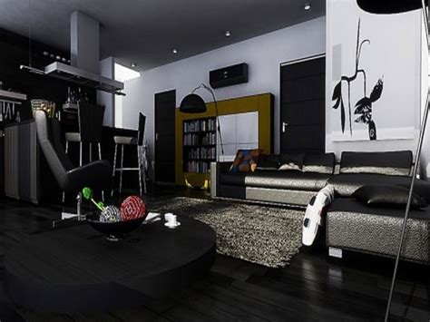 elegant black furniture  living room  ideas