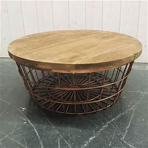 Table Basse Ronde Bois Metal : table basse panier le bois chez vous ~ Teatrodelosmanantiales.com Idées de Décoration
